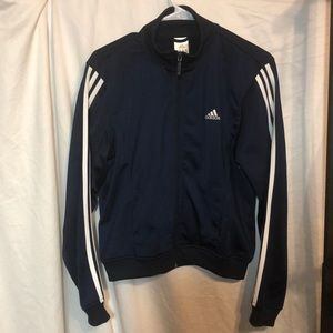 Adidas lightweight jacket men's medium navy/white
